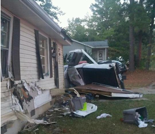 Update: Truck Crashes into Home in Rome