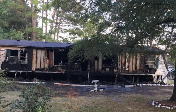 Home Destroyed by Fire on Old Summerville Road