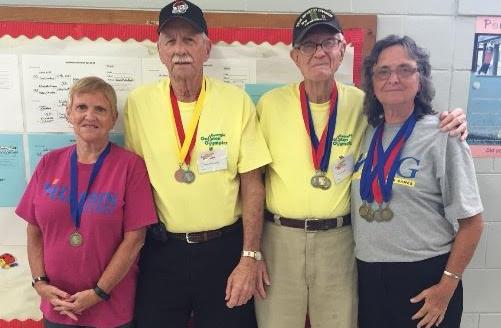 4 local seniors bring home 21 medals from Golden Olympic Games