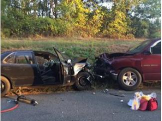 Head On Crash Sends 2 to Hospital, One LifeFlighted