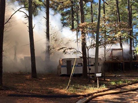 Three Mobile Homes Catch on Fire in Rome