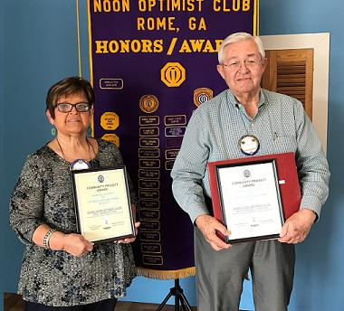 Rome Noon Optimist projects receive District Honors
