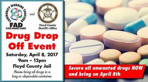 Floyd Against Drugs and Floyd County Sheriff's Office Partner to Provide a Drug Drop Off Event
