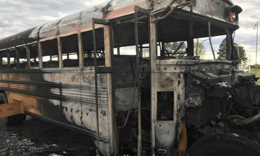 School Bus Catches on Fire with Children on Board