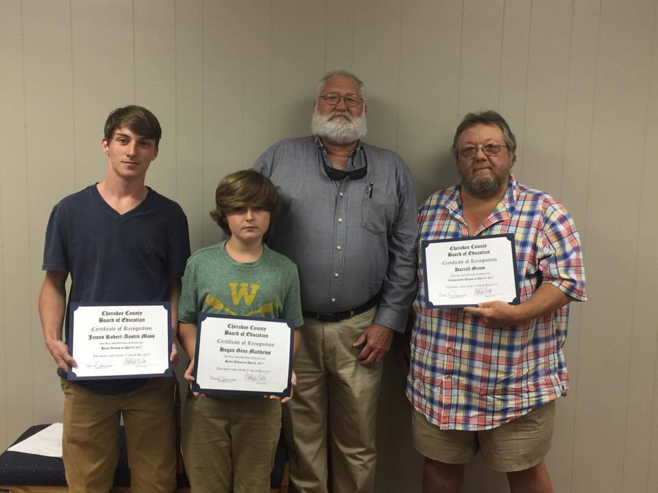 Bus Driver & Students Recognized By The School Board For Their Heroic Efforts