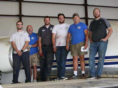 GNTC Aviation Maintenance Technology Students and Instructor Volunteer for Purple Heart Project