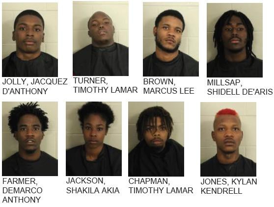 Nine Arrested in Armed Robbery Investigation