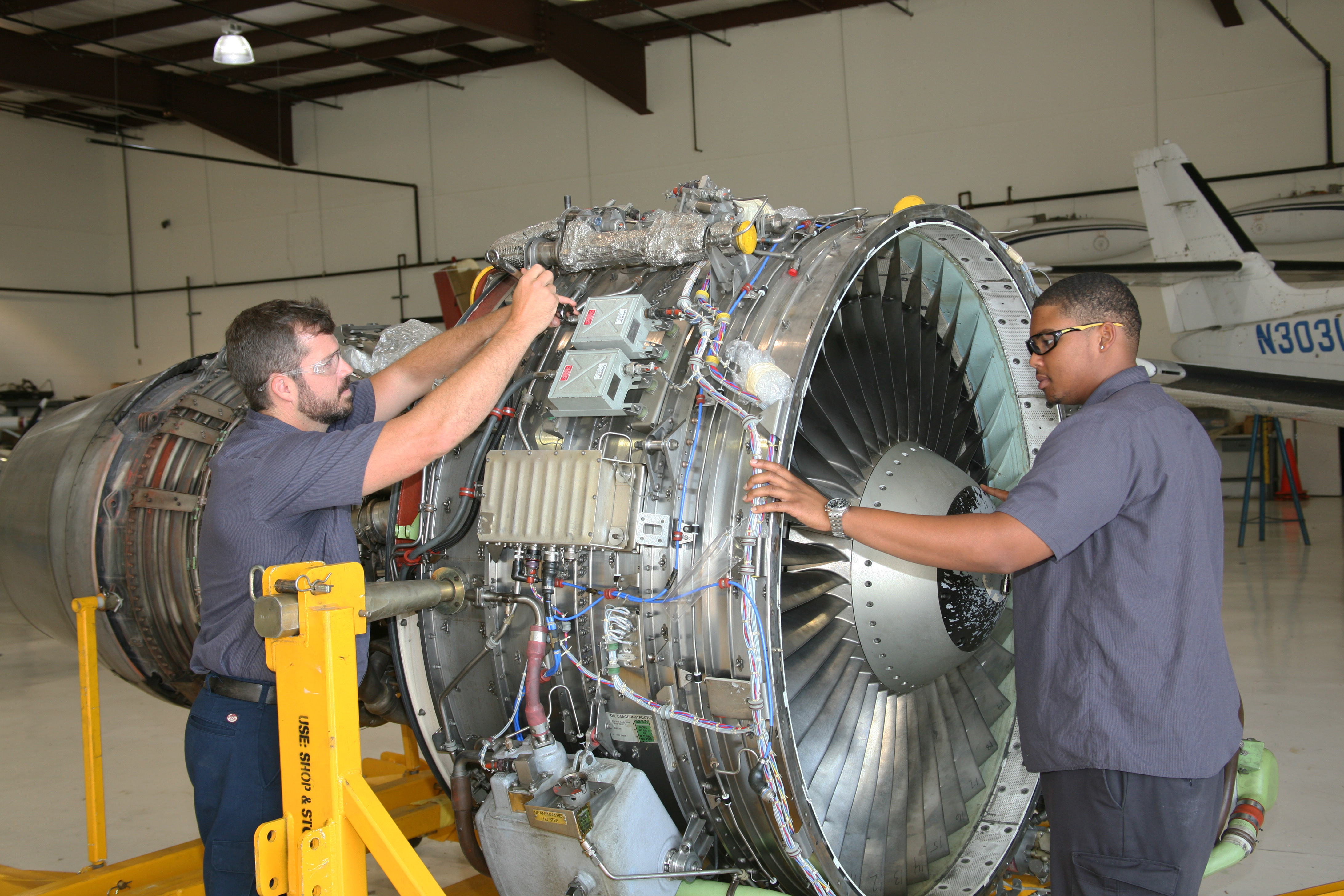 Southwest Airlines Donates Turbofan Engine to GNTC
