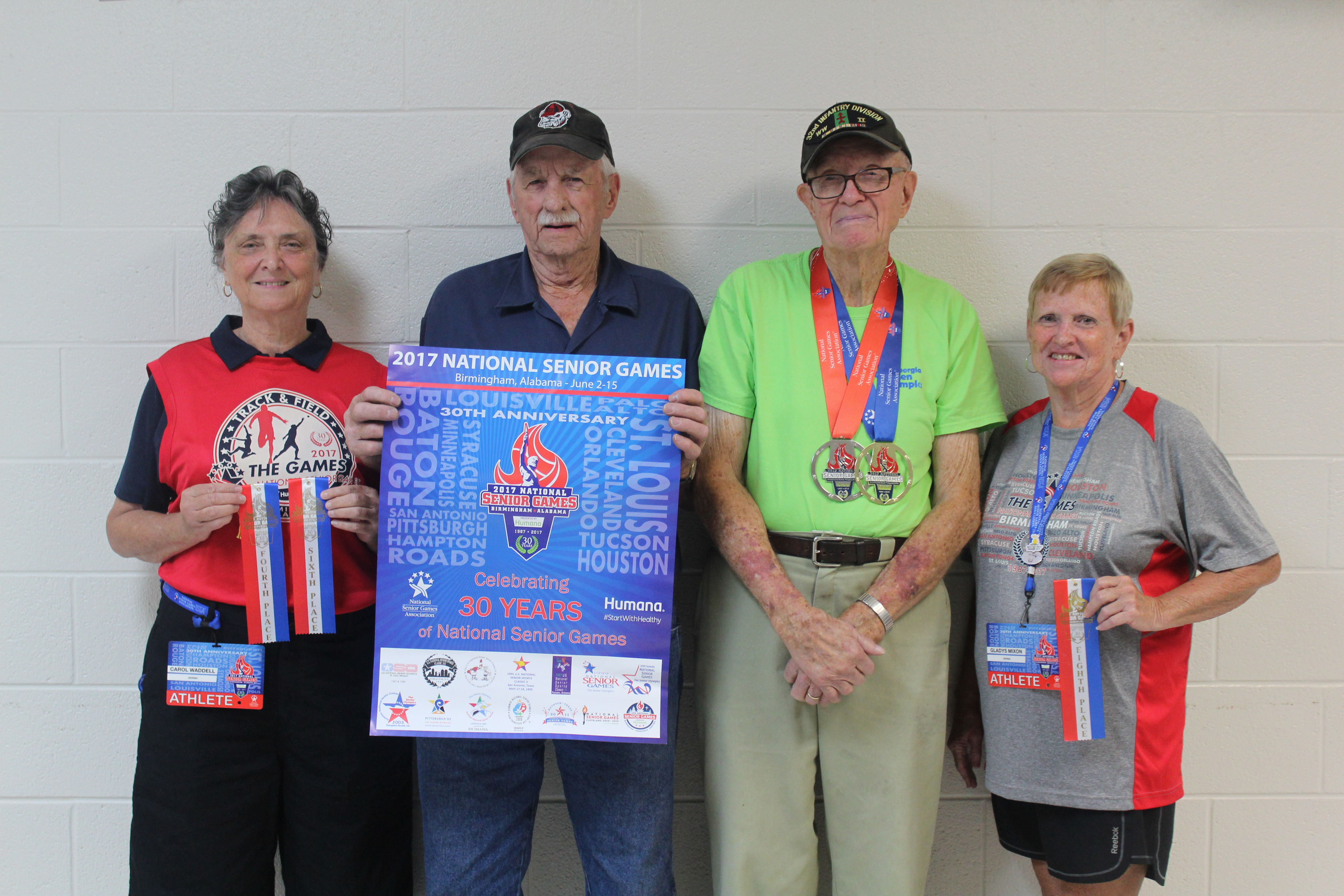 4 Floyd County Residents bring home awards from 2017 National Senior Games