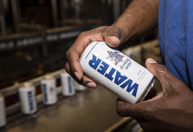 Anheuser-Busch Sends Canned Water To Help With Hurricane Relief