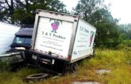 One Injured In Produce Truck Accident Off Highway 9