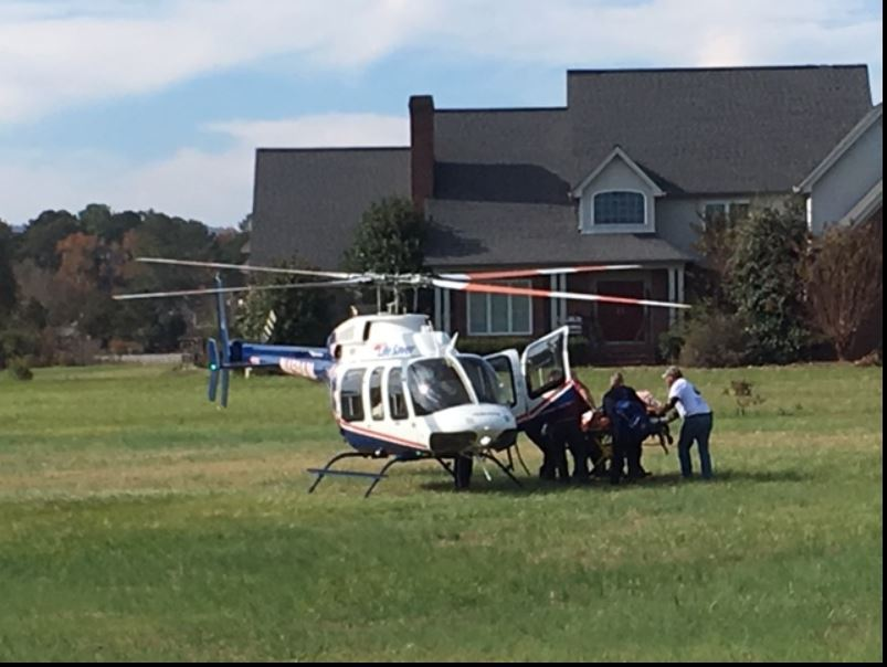 Victim Airlifted To Trauma Center After Being Pinned Underneath A Vehicle