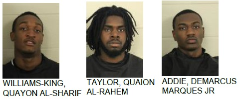 Three Men Charged with Disorderly Conduct at Local Motel