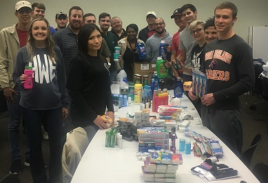 GHC's new bachelor's degree students help the homeless this holiday season with a service learning project, collect almost 1,400 items
