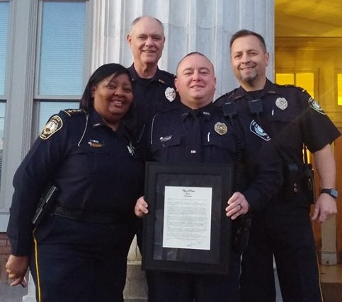 Chase Burnes Named Rome Police Officer of the Year