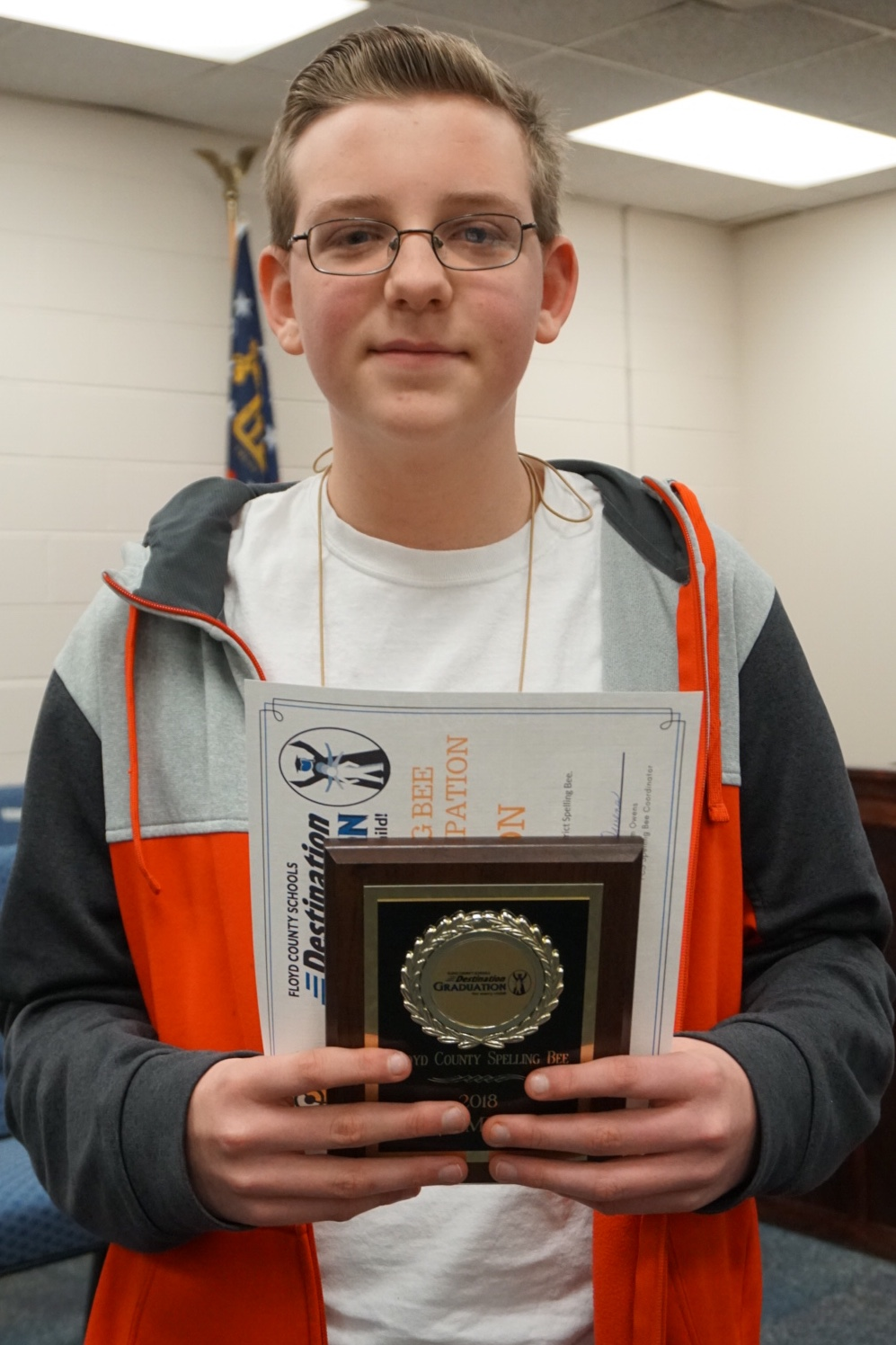 Coosa Middle eighth-grader wins Floyd County Schools' District Spelling Bee