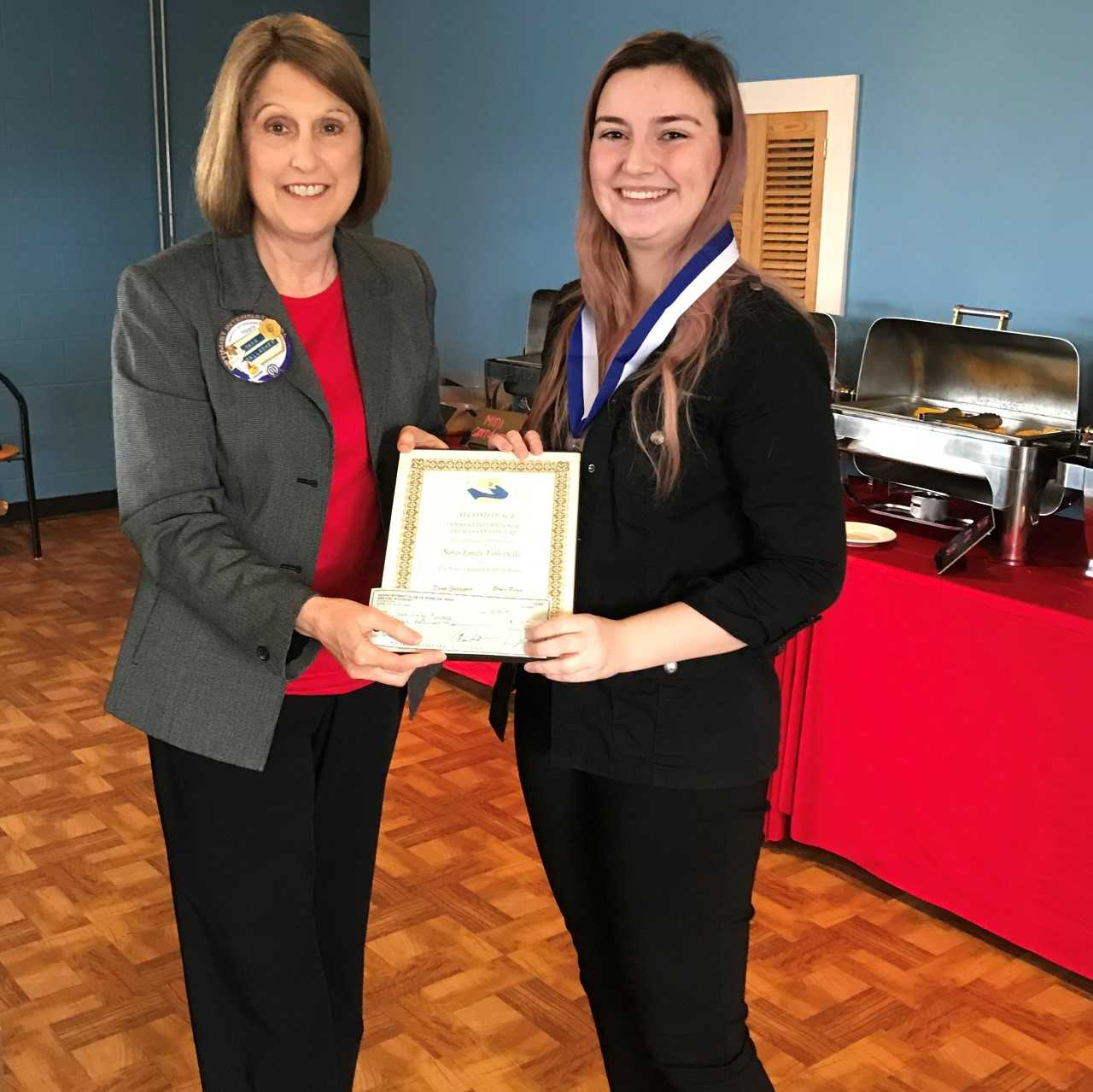 Local Model Student Wins Scholarship from Noon Optimist Club