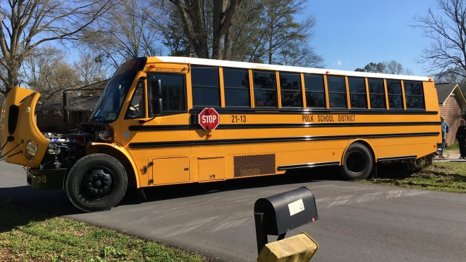 Minor injuries reported in Polk County school bus wreck