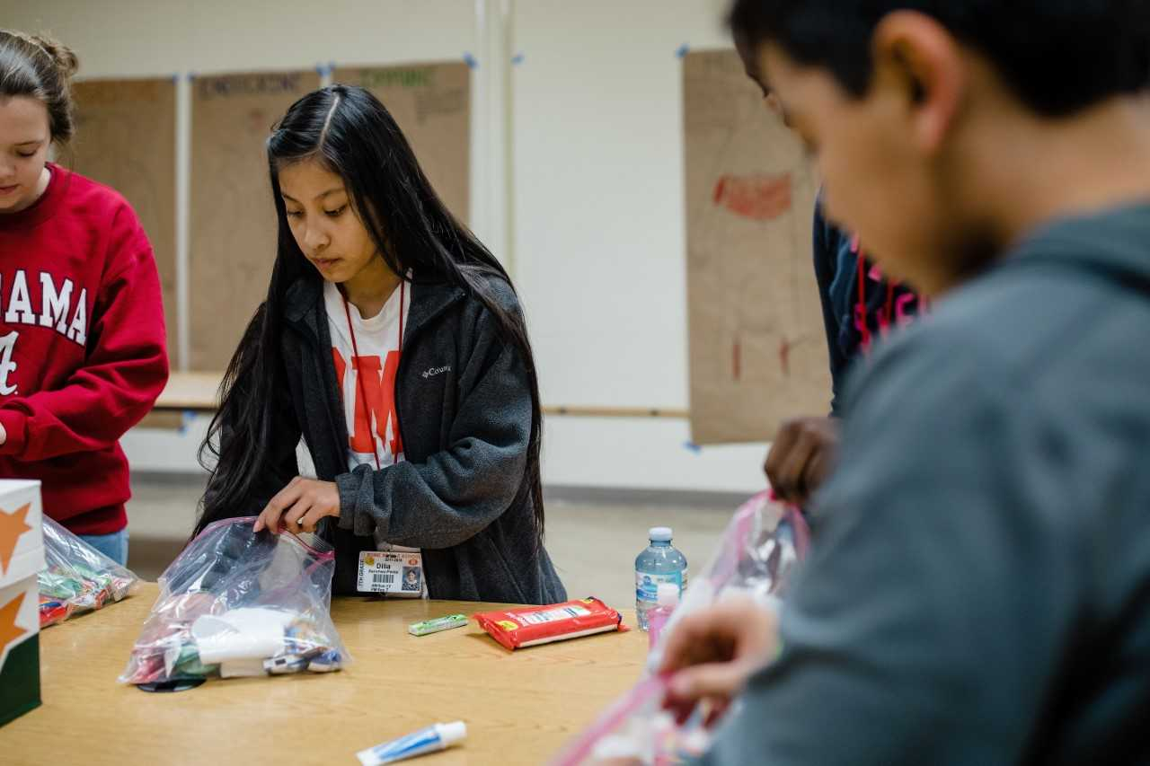 Rome Middle School Advisement Group Makes Care Packages  for William S. Davies Homeless Shelter