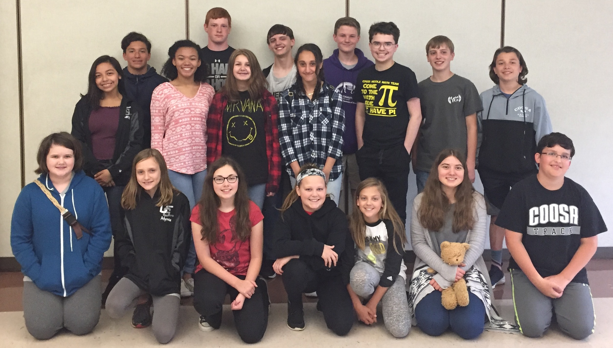 Coosa Middle wins annual Floyd County Schools Middle School Math Competition
