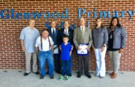 Glenwood Primary receives check from local Masonic Lodge for makerspace