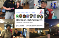 2nd Annual Heroes Unified Event Collected 100 Units of Life-saving Blood