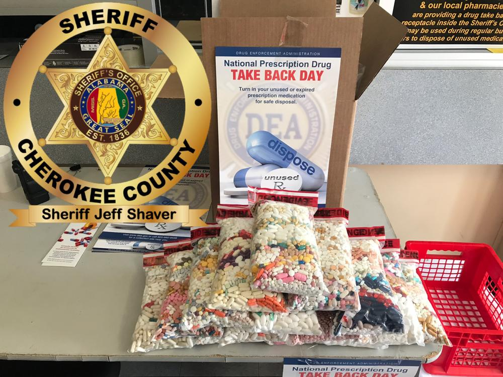 Cherokee County Sheriffs Officer Collects Over 100 Pounds of Drugs