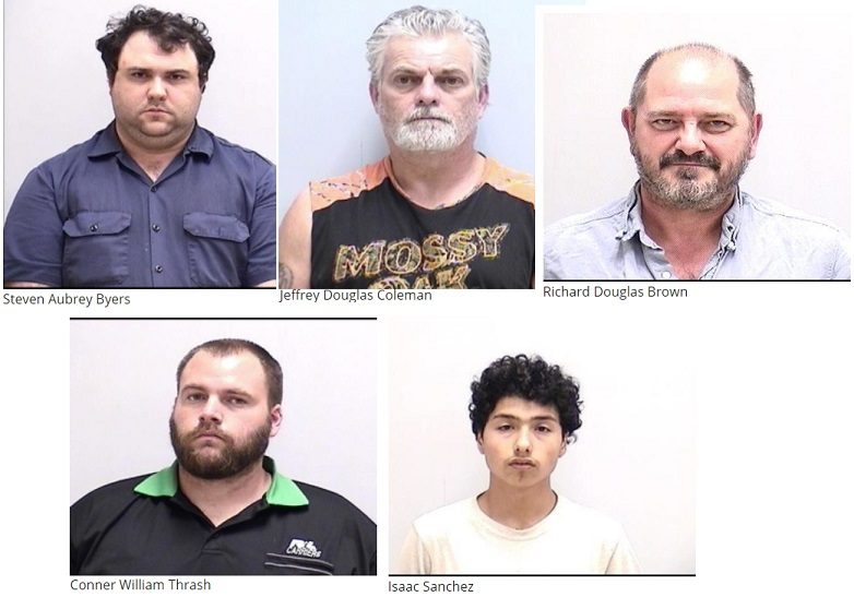 Bartow Police Arrest Five for Human Trafficking