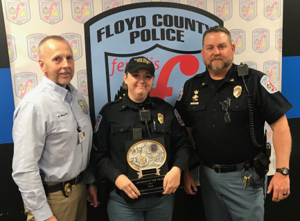 Katy Walters awarded Officer of the Year in Floyd County