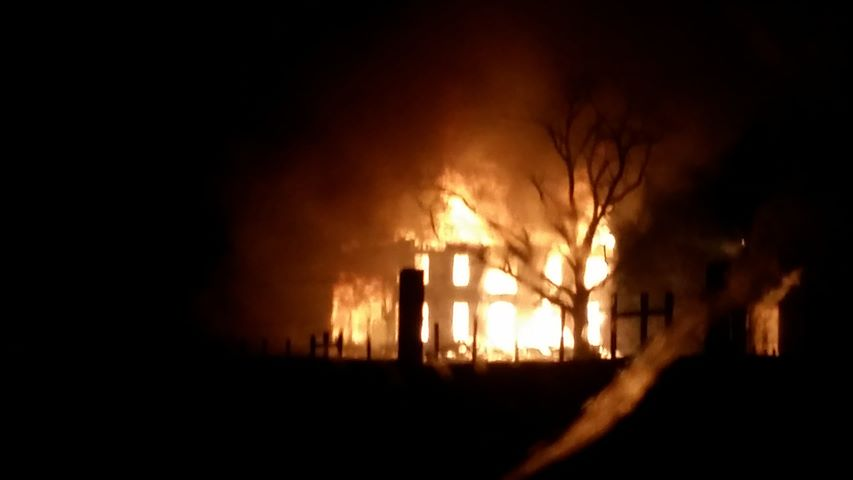 Silver Creek Mansion Burns