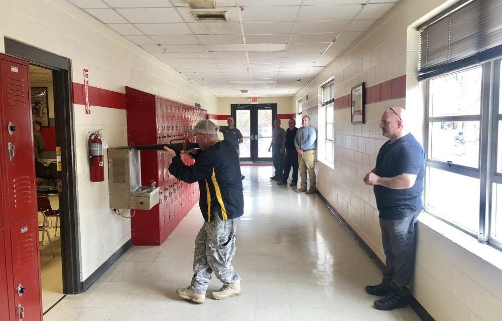 Deputies Train in Cedar Bluff School for Active Threat