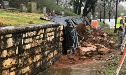 Retaining Wall Collapses, Leaves Caskets Exposed at Historic Cemetery