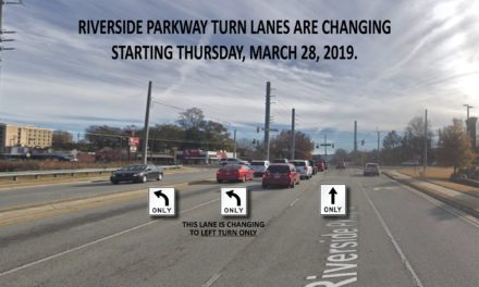 GDOT to Change Traffic Lanes at Turner McCall and Riverside Parkway