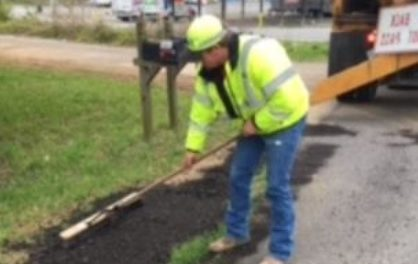 Repairing Edges of Pavement on Highways 53 and 20 in Floyd County
