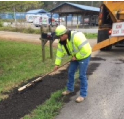 Edge Pavement Repair on Two Highways in Floyd County
