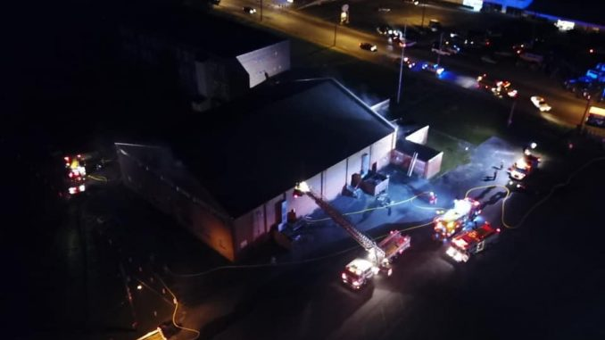 Fire causes extensive damage to old Purks gym, deemed suspicious