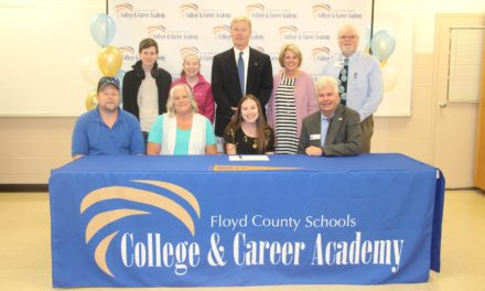 Nine sign at Floyd County Schools College and Career Academy's 3rd Annual Georgia Future Educators Signing Day