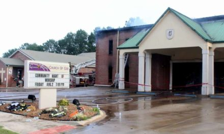 Firefighters Battle Blaze at Grace Pointe Church of God in Centre