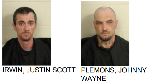 Men Found with Stolen Items During Search