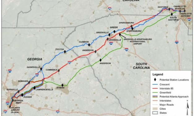 Public Comment Sought on Atlanta to Charlotte Passenger Rail Corridor