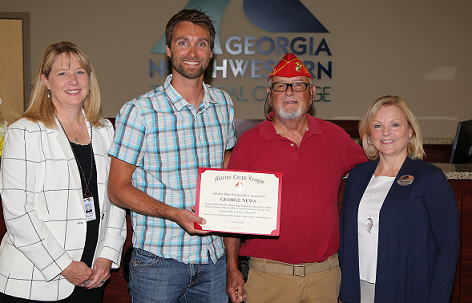GNTC students receive grant from area Marine Corps League