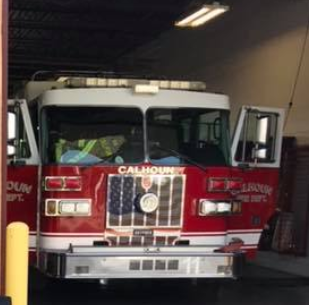 Industrial Fire Reported at Apachee Mills in Calhoun