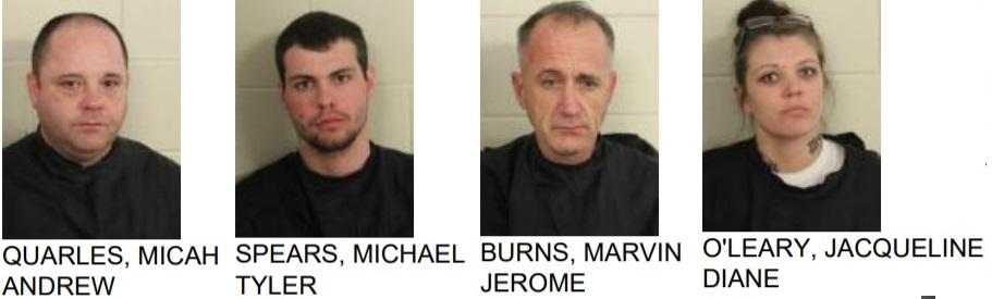 Four Arrested in Burnett Ferry Drug Bust