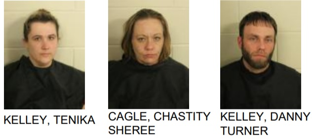 police find counterfeit money and meth, 3 arrested