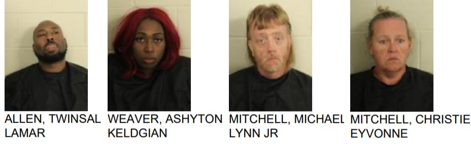 Four Arrested After Drug Bust Near Tamassee Lane