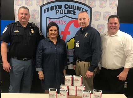 FAD donates Narcan to Floyd County Police