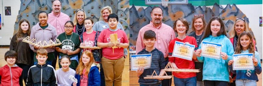 GLES Teams win Fourth Annual FCS Popsicle Stick Bridge Challenge