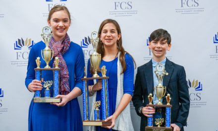 Seventh Grade Student Wins Floyd County Schools' 2020 Gifted Oratorical Contest