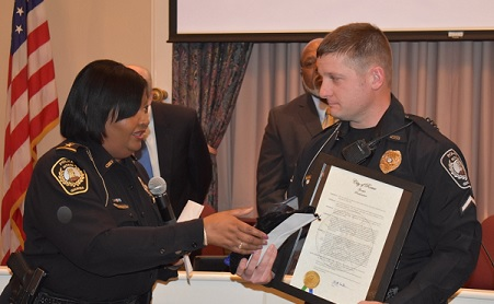 Rome Police Department Honors Scott Kasmar as Officer of the Year