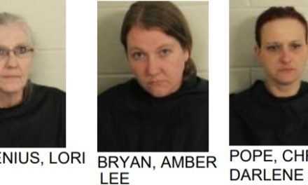 Three Woman Arrested After Police Find Large Amount of Meth, Marijuana and Gun